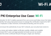 Sectigo PKI Enterprise Use Case: Wi-Fi