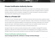 Private Certification Authority Service