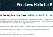 Windows Hello for Business